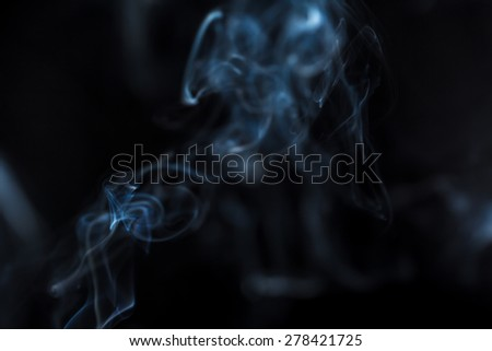 Mythical creature from smoke. - stock photo
