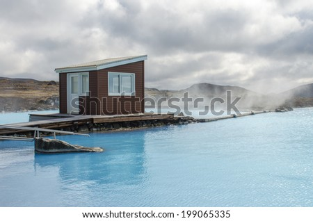 Myvatn nature baths in Iceland - stock photo