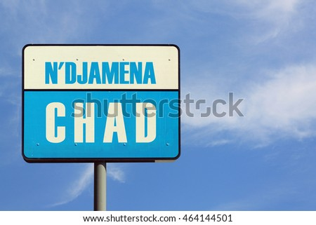 N'Djamena Chad Sign