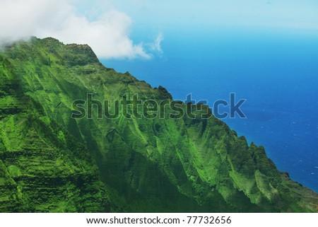 Na Pali coast. Kauai Island, Hawaii - stock photo