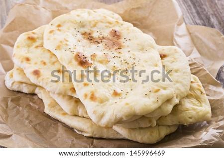 naan bread  - stock photo