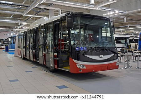 Electric bus stock images royalty free images vectors for Motor city carpet and flooring
