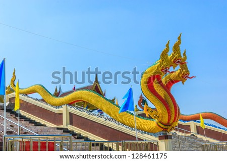Naga at the Wat Muang temple in Ang Tong province ,,Thailand