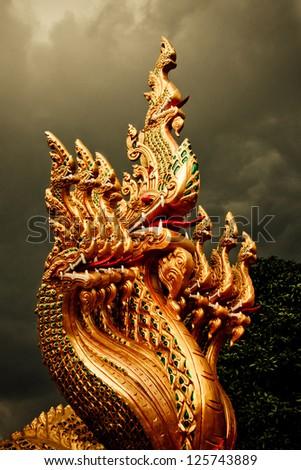 Naga the Mystic Dragon - stock photo
