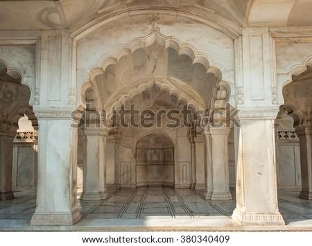 Nagina Mosque in Agra Fort, Uttar Pradesh, India - stock photo