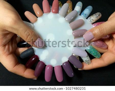 Nail Artist Stylish Manicure Nail Art Stock Photo Royalty Free