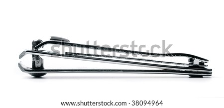 Nail clipper isolated on white - stock photo
