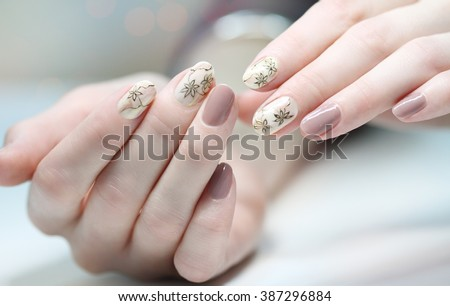 Nail Design Manicure Nail Paint Beautiful Stock Photo Edit Now