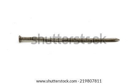 nail on a white background - stock photo