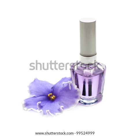 nail polish and a violet flower