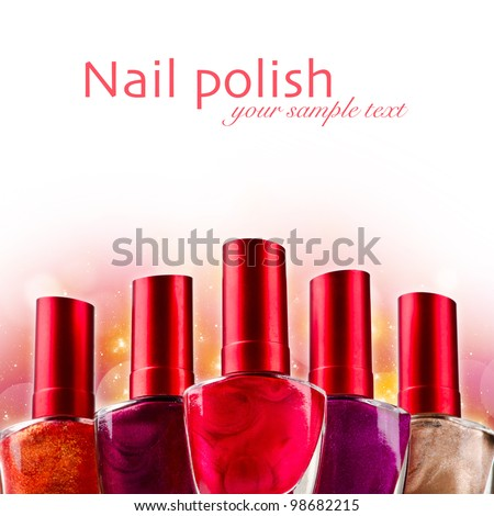 Nail polish background - stock photo