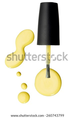 Nail Polish Brush & Blobs - stock photo