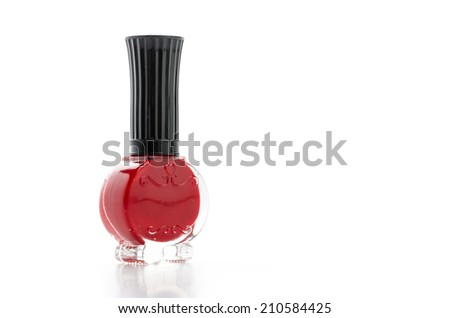 Nail polish isolated on white