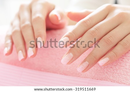 Nail, salon - stock photo