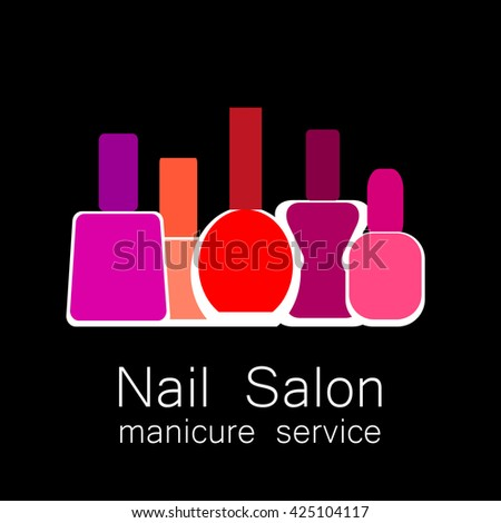 Nail Polish Design Logo Creative Touch