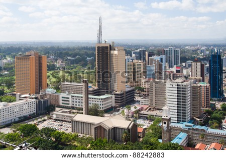 Nairobi, the capital city of Kenya - stock photo