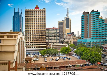 Nairobi, the capital city of Kenya. Afrcia.  - stock photo