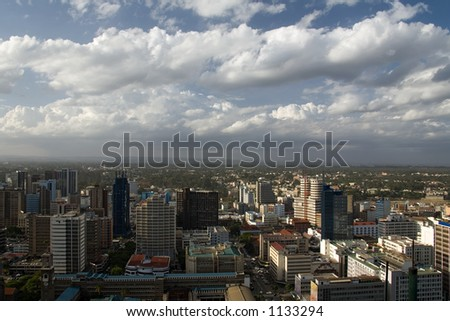 nairobi view from highest building - stock photo