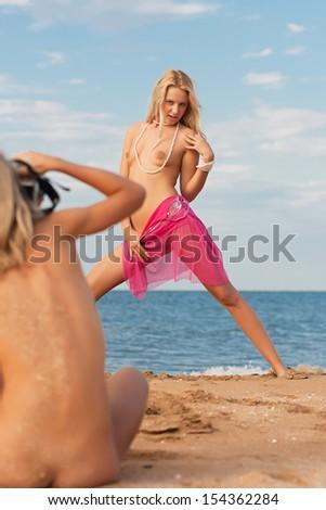 Naughty girl having sex