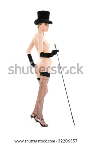 Naked woman with riding crop