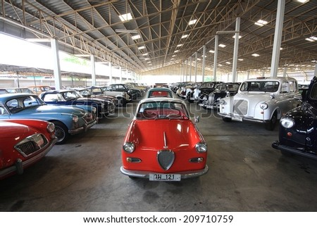 NAKHON PATHOM, THAILAND - NOVEMBER 21, 2012: Jesada Technik Museum is the biggest vehicle museum in Thailand and in the region. - stock photo