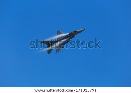NAKHON RATCHASIMA THAILAND - JANUARY 11: The Children's Day. The day have Air show from The Royal Thai Air force Base Airport 1st Airborne Division on January 11, 2014, in Nakhon Ratchasima Thailand.