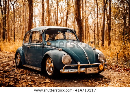 Nakhon Ratchasima, THAILAND - MAY 1 : Volkswagen retro vintage car in 