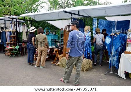 NAKHON RATCHASIMA, THAILAND - NOVEMBER 28 : Thai people travel and shopping at market fair on November 28, 205 in Nakhon Ratchasima, Thailand. - stock photo