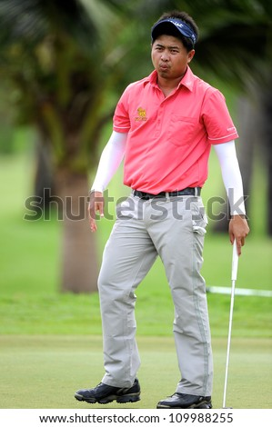 NAKHONPATHOM,THAILA ND-AUG 10:Wisut Artjanawat of THA in action during day two of the Golf Thailand Open at Suwan Golf&Country Club on August 10, 2012 in Nakhonpathom Thailand