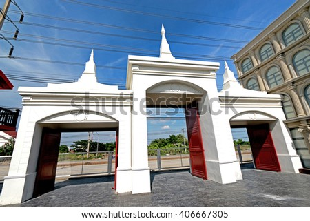 NAKHONPRATHOM-THAILAND-JUNE 6 : The Building of Museums House Theatre on June 6, 2015 Nakhonprathom Province, Thailand - stock photo
