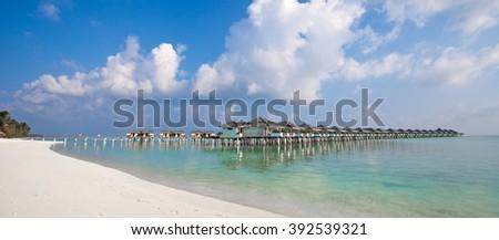 Nalaguraidhoo Island in Maldive Islands, Indian Ocean - stock photo