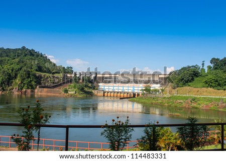 Nam Ngum hydroelectric power station in Laos