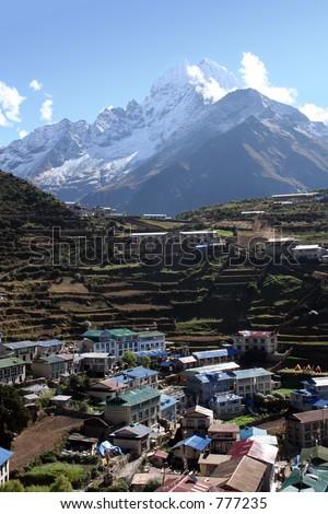 Namche Bazar - Nepal - stock photo