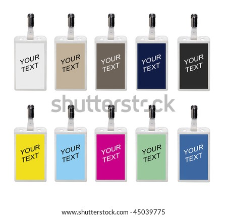 Name badges isolated on a white background - stock photo