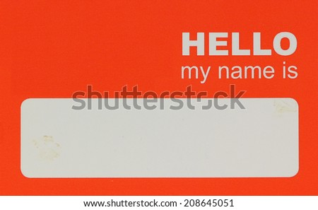name tag - stock photo