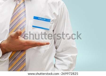 Name Tag, Identity, Button Down Shirt.