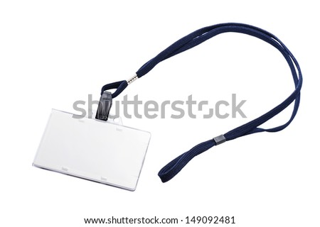 Name Tag isolated on white background - stock photo