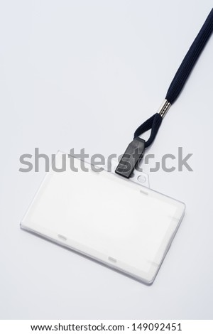 Name Tag on gray background - stock photo