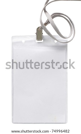 Name Tag, vertical. isolated over white background - stock photo