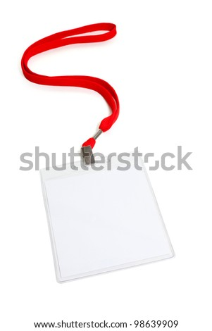 Name Tag with white background - stock photo