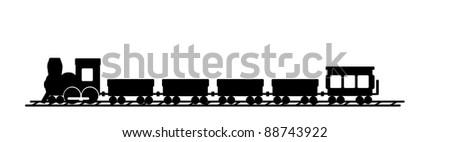 Name train for wall art - stock photo