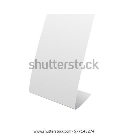 nameplate stand banner on white background stock illustration