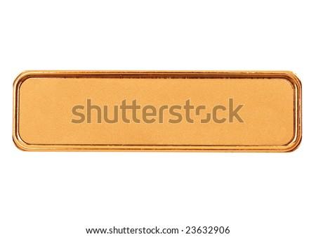 nametag isolated on white - stock photo
