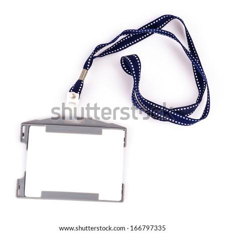 Nametag on isolated white background - stock photo