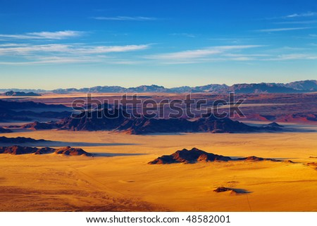 Namib Desert, aerial view - stock photo