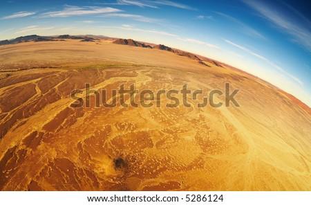 Namib Desert, bird's-eye view - stock photo