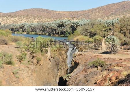 Namibia, Epupa Falls - stock photo
