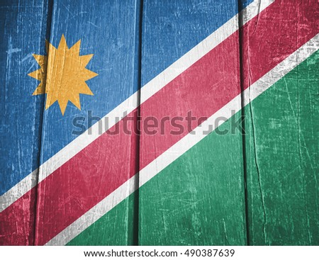 Namibia flag, background, texture