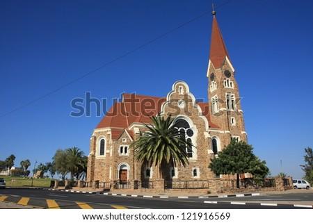 Namibia Windhoek Christ Church - stock photo