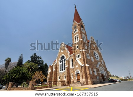 Namibia Windhoek Christ Church - stock photo